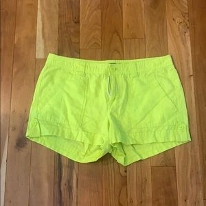 Lime green/yellow shorts size 8